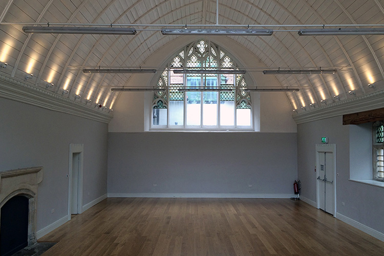 Listed church hall refurbishment by Space Program Architects