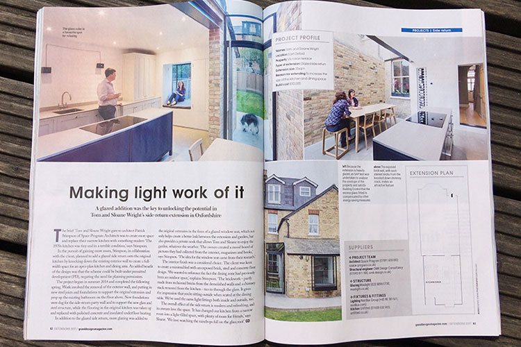 Space Program Architects article in Grand Designs Magazine.